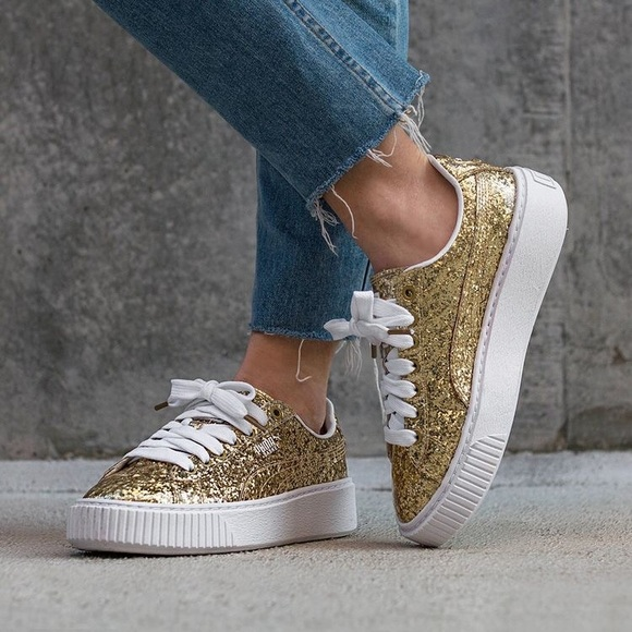 puma basket brillantini